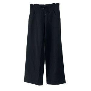 Lululemon Black Wide Leg Sweat Pants Size 2
